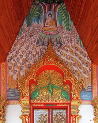 Photograph - Wat Si Ngam Phra Wihan Door Lintel And Entrance Painting Dthcm1904 by Gerry Gantt