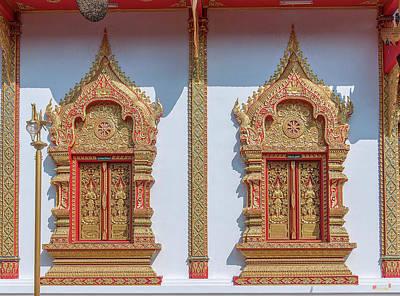 Photograph - Wat Si Ngam Phra Wihan Windows Dthcm1912 by Gerry Gantt