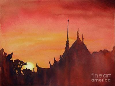 Painting - Wat Silhouette by Ryan Fox