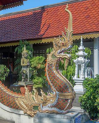 Photograph - Wat Siri Mongkol Phra Ubosot Makara And Naga And Boundary Stone Dthcm1784 by Gerry Gantt