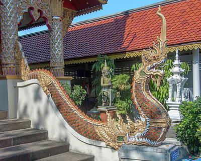 Photograph - Wat Siri Mongkol Phra Ubosot Makara And Naga Dthcm1783 by Gerry Gantt