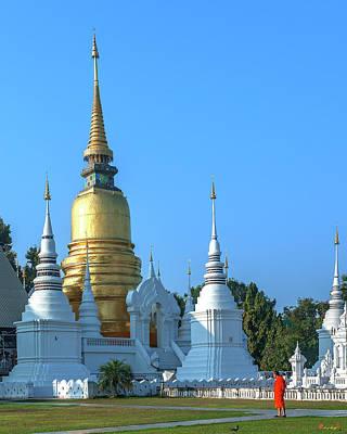 Photograph - Wat Suan Dok Buddha Relics Chedi Dthcm0949 by Gerry Gantt