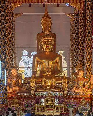 Photograph - Wat Suan Dok Wihan Luang Buddha Images Dthcm0952 by Gerry Gantt