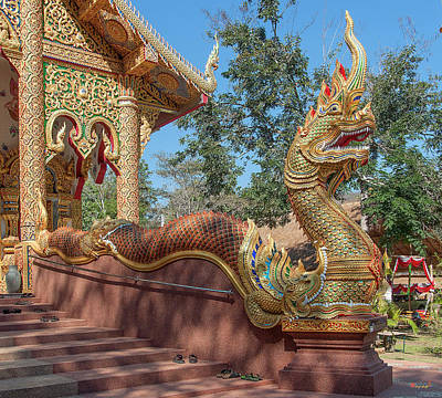 Photograph - Wat Suan Prig Phra Wihan Makara And Naga Guardian Dthcm2395 by Gerry Gantt