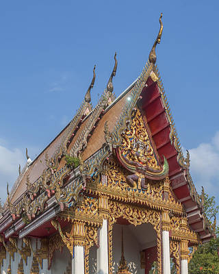 Photograph - Wat Subannimit Phra Ubosot Gable Dthcp0005 by Gerry Gantt