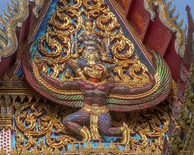 Photograph - Wat Subannimit Phra Ubosot Gable Dthcp0006 by Gerry Gantt