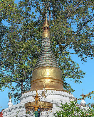 Photograph - Wat Tamnak Golden Umbrella And Pinnacle Of Phra That Chedi Dthcm2326 by Gerry Gantt