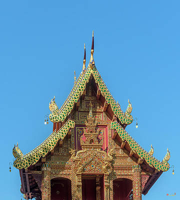 Photograph - Wat Tamnak Ho Trai Gable Dthcm2317 by Gerry Gantt