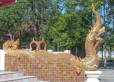 Photograph - Wat Thipwanaram Phra Ubosot Makara And Naga Dthcm1821 by Gerry Gantt