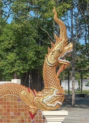 Photograph - Wat Thipwanaram Phra Ubosot Makara And Naga Dthcm1822 by Gerry Gantt
