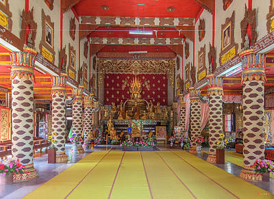 Photograph - Wat Thung Luang Phra Wihan Interior Dthcm2104 by Gerry Gantt