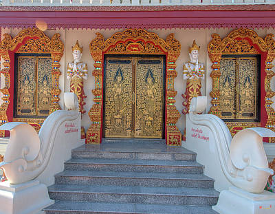 Photograph - Wat Tong Kai Bell Tower Entrance Dthcm2346 by Gerry Gantt