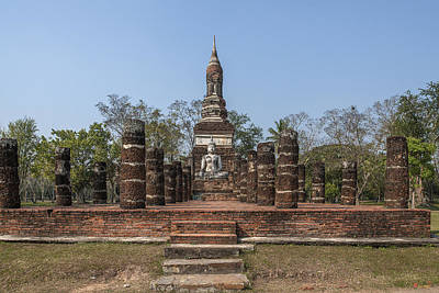 Photograph - Wat Traphang Ngoen Wihan And Chedi Dthst0067 by Gerry Gantt