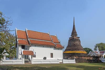 Photograph - Wat Traphang Thong Lang Phra Ubosot And Main Chedi Dthst0168 by Gerry Gantt