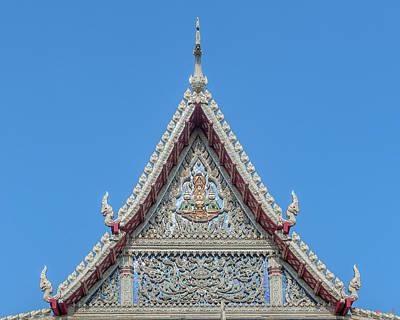 Photograph - Wat Tsai Phra Ubosot Gable Dthb1658 by Gerry Gantt