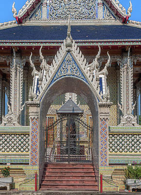 Photograph - Wat Tsai Phra Ubosot Gate Dthb0403 by Gerry Gantt