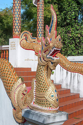 Photograph - Wat Wichit Wari Phra Ubosot Makara And Naga Dthcm1774 by Gerry Gantt