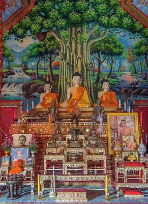 Photograph - Wat Wichit Wari Phra Wihan Buddha Images Dthcm1755 by Gerry Gantt