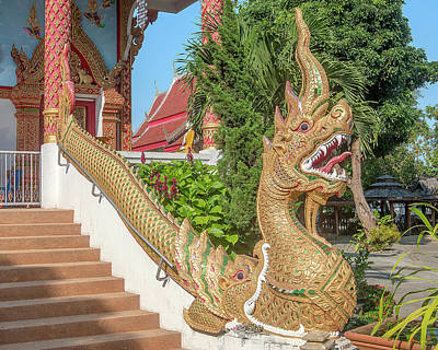 Photograph - Wat Wichit Wari Phra Wihan Makara And Naga Dthcm1749 by Gerry Gantt