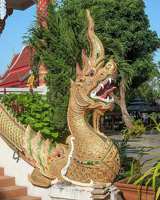 Photograph - Wat Wichit Wari Phra Wihan Makara And Naga Dthcm1750 by Gerry Gantt