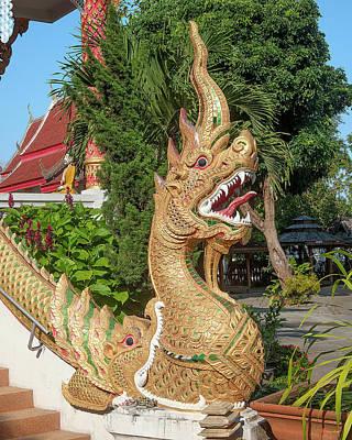 Photograph - Wat Wichit Wari Phra Wihan Makara And Naga Dthcm1750 by Gerry Gantt
