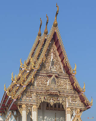 Photograph - Wat Woranat Bonphot Phra Ubosot Gable Dthns0019 by Gerry Gantt