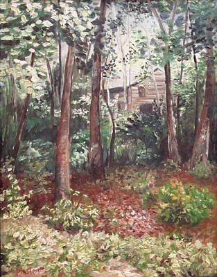 Painting - Watauga Cabin by Scott Plaster