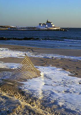 Photograph - Watch Hill Beach And Lighthouse by John Burk
