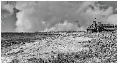 Photograph - Watch Hill Beach Black And White by Scott Hervieux