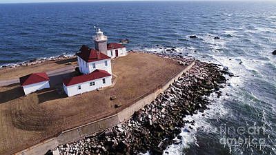 Photograph - Watch Hill Lighhouse by Michael Hughes