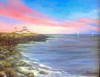 Watch Hill Light House Art Print