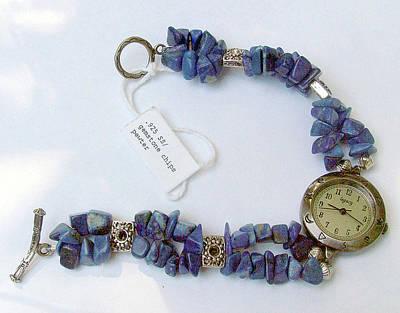 Sterling Silver Bracelet Jewelry - Watch In Lapis Lazuli by Caroline King