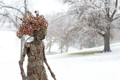 Sculpture - Watch Me Go Video Still Snow Scene by Adam Long