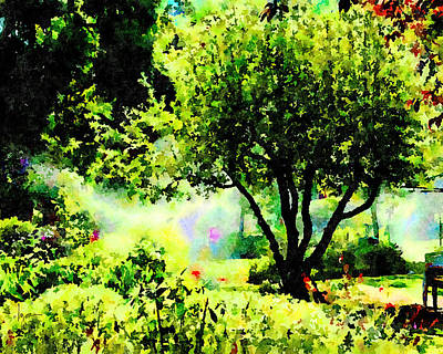 Painting - Watch Out For The Sprinklers by Angela Treat Lyon