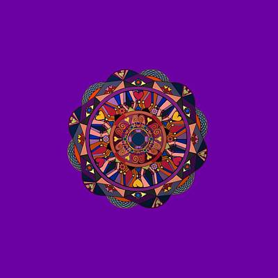 Digital Art - Watch Over My Heart Mandala  by Alisha at AlishaDawnCreations