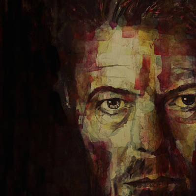 Lips Painting - Watch That Man Bowie by Paul Lovering