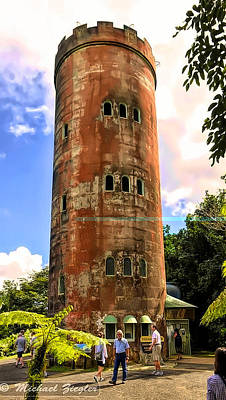 Photograph - Yokahu Tower, Mina Falls  by Michael Ziegler