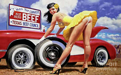 Photograph - Watch Your Curves Eat More Beef by Doc Braham