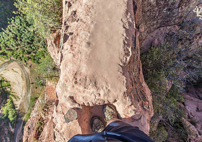 Photograph - Watch Your Step At Angels Landing  by John McGraw