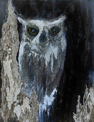 Painting -  Watcher Of The Woods by Rae Ann  M Garrett