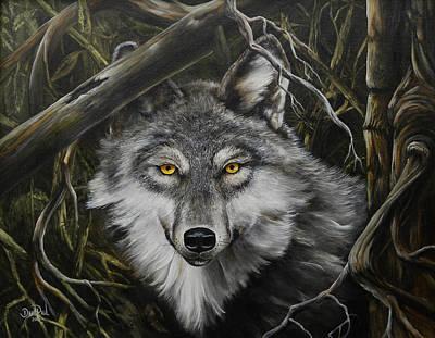David Paul Painting - Watchful Eyes by David Paul
