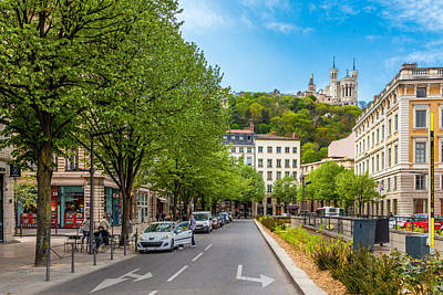 Saone River Photograph - Watchful Fourviere  by W Chris Fooshee
