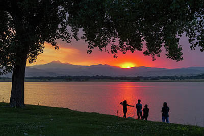 Photograph - Watching A Burning Sunset What A View by James BO Insogna