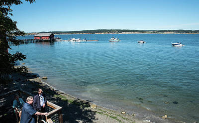 Photograph - Watching A Coupeville Boat Parade by Tom Cochran