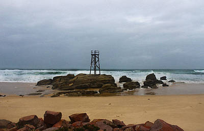 Photograph - Watching For Sharks - Redhead Beach by Susan Vineyard