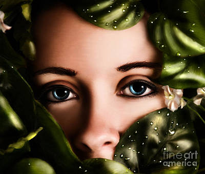 Digital Art - Watching by Laurie Hasan