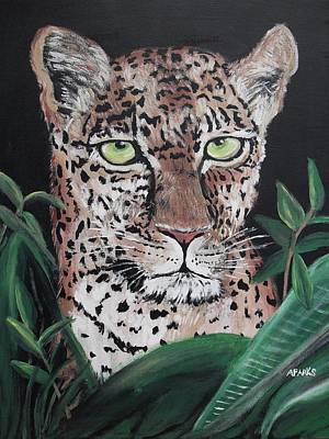 Painting - Watching Leopard by Aleta Parks