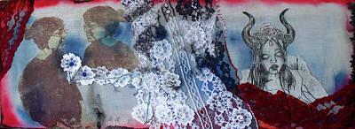 Printmaking Mixed Media - Watching by Manda Brezicky