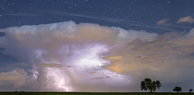 Lightning Bolts Photograph - Watching Natures Show Panorama by James BO  Insogna