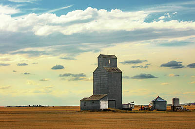Grain Elevator Photograph - Watching O'er The Plains by Todd Klassy